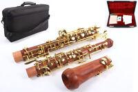 Yinfente Professional Oboe Rosewood C key left F Resonance Golden plated key #1