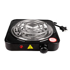 Portable Single Electric Burner Hot Plate Dorm RV Hob Stove Top Table Cooktop