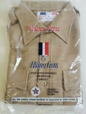 NEW FLYING CROSS USA MEN'S TAN BROWN UNIFORM DRESS SHIRT SIZE MEDIUM NEW