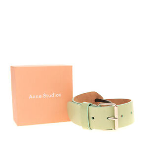 RRP €285 ACNE STUDIOS Leather Waist Belt Size 75/30 Rope Trim Made in Italy