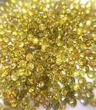 2.0ctw Wholesale Lot of 1.35-1.45mm .01ct YELLOW Natural Loose Round Diamonds