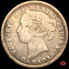 1893 Canada 10 Cents Flat Top 3 OBV6 - VF - Lot#1549P