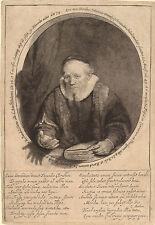 Rembrandt Etching Reproduction: Jan Cornelis Sylvius, Preacher: Fine Art Print