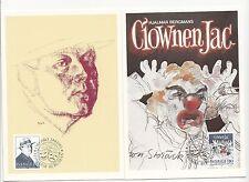 (32178) Sweden Maxicards Clown Jac / Hjalmar Bergman - Orebro 24 August 1983
