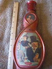 """Vintage Red Manet Au Cafe Liquor Bottle Decanter 11 1/2"""" CL17-8"""