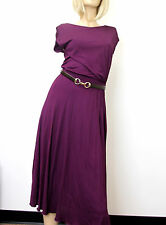 $1695 NEW Authentic Gucci Runway Dress w/Leather Belt, Purple, M, 277897
