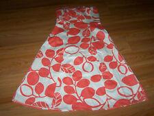Juniors Size 1-2 B. Darlin Strapless Summer Dress Peach / Coral White Print EUC