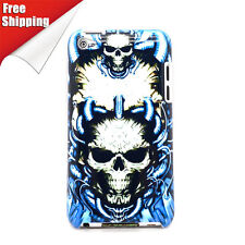 Free Shipping Exclusive Edition Blue Flame Devil Hard Case For iTouch 4
