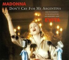 MADONNA Don't Cry For Me Argentina CD Single Warner Bros. WO384CD 1996