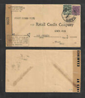 1945 MEXICO WW II EXAMINED TAPE ADVERTISING COVER RETAIL CREDIT COMPANY