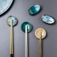 Chopsticks Rest Holder Ceramic Glaze Spoon Fork Tableware Stand Home Decor Acc