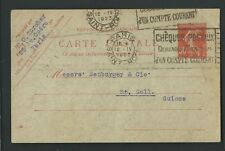 BU 07 - Semeuse  camée - carte postale 30 ct rouge date 129 - oblitérée de Paris
