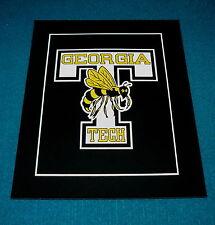 "Vintage! GEORGIA TECH classic logo 8"" x 10"" PRINT black light EFFECT"