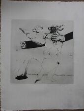 Gravure signée essai de Louis-Pierre BOUGIE 1980 Canada Québec Trois-Rivières