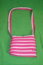 Zip It Light Pink & Dark Pink Zipper Crossbody Purse