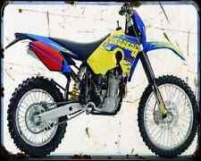 Husaberg Fe550E 07 A4 Metal Sign Motorbike Vintage Aged