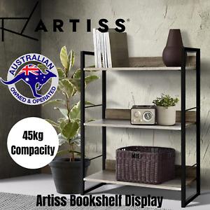 Artiss Bookshelf Display Shelves Metal Bookcase Wooden Book Shelf Wall Storage