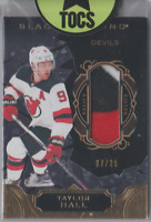Taylor Hall 2018-19 Black Diamond Relic 3 Color Patch 07/50 New Jersey Devils