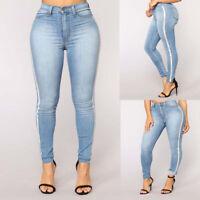 7ec6d60bfae Plus Size Women Pencil Stretch Skinny Jeans High Waist Jeans Trousers Denim  Pant