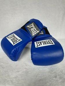 Everlast Boxing Equipment Kickboxing Martial Arts Elastic Band Hook & Loop Blue