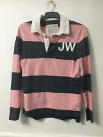 Jack Wills Pink Navy T-shirt Size XS Mens Long Sleeve Great Condition (D765)
