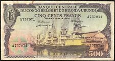 Belgian Congo 500 Francs 1957 P-34a.2 aVF Banknote