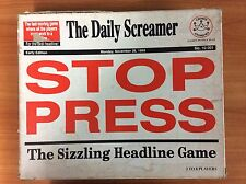 Vintage 1987 Board Game - Stop Press - The Sizzling Headline Game