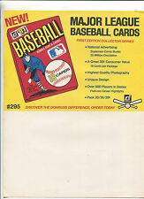 1981 Donruss BASEBALL Cards Selling sheet  sales sheet vendor info rare    MBX80