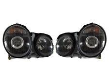 DEPO Black Housing Projector Headlights For 2000-2002 Mercedes Benz E Class W210