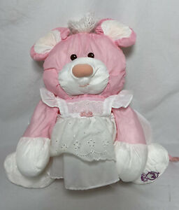 Vintage Fisher Price Puffalumps Pink Mouse Plush 1987