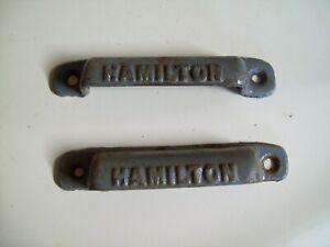 Lot of TWO Vintage Hamilton Printer Letterpress Tray Drawer Pull