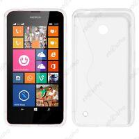 Housse Etui Coque Souple Silicone Motif S Line Transparent Nokia Lumia 630 +Film