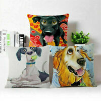 Bread Puppies Cotton Linen Throw Pillow Case Cushion Cover Home Decor 18""