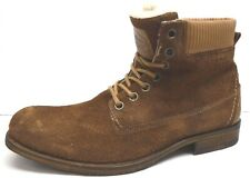 Steve Madden Size 12 Brown Leather Boots New Mens Shoes