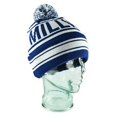 """Millwall Navy & White """"No One Likes Us"""" Bobble Hat Adult One Size Gift Souvenir"""