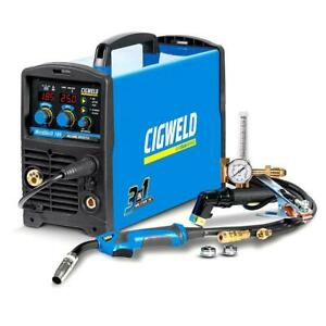 Cigweld 3IN1 Inverter Welder MIG/TIG/STICK 185 AMP Single Phase Welding W1008185