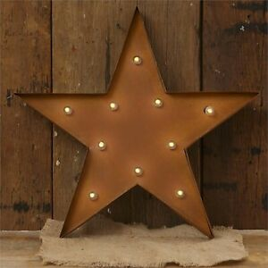 Rustic Hanging led STAR - Battery Operated with Timer