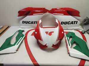 Ducati fairing set top headlight left and right red white Panigale 899 1199 S