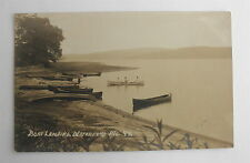 Antique Real Photo Post Card of a Boat Landing in Waterford, ME