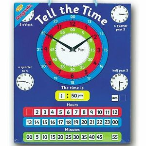 Magnetic Tell The Time Chart Maths Teacher Resource Clocks Learning School Kids