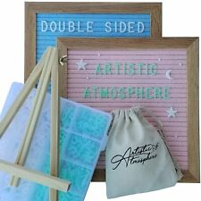 Artistic Atmosphere || Double Sided Felt Letter Board || 680 Letters || NEW ||