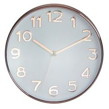 UNITY BAKEWELL SILENT SWEEP WALL CLOCK IN ROSE GOLD