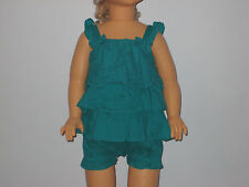 New GYMBOREE Size 0-3 Months Green Tiered Dress with Diaper Cover