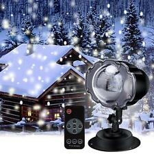 NAVIDAD LUCES LED Movibles Proyector Láser Paisaje Papá Noel estampado Lámpara