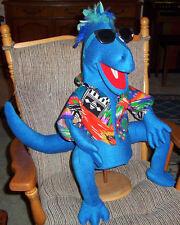 Lge Blue Dinosaur Ventriloquist Puppet --ministry,prehistoric education