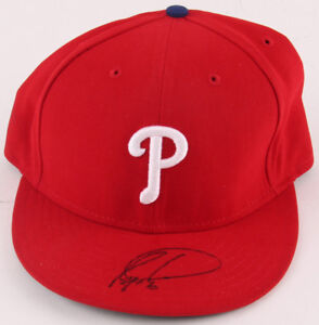 Ryan Howard Signed Phillies New Era Authentic Fitted Wool Baseball Hat  LOJO COA