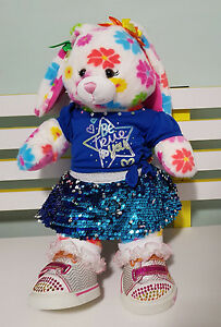 BUILD A BEAR PLUSH TOY EASTER RABBIT BUNNY TWINKLE TOES SKETCHERS 42CM!