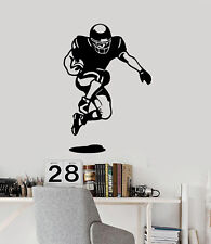 Football Player Vinyl Wall Decal Sports Teen Room Decor Stickers Mural (ig936)