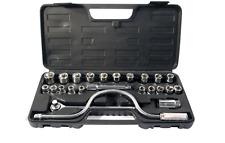 """25pc 1/2"""" unidad métrica toma de Extensión Set Bar Garaje Coche Kit de herramienta de trabajo en caso"""