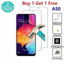 2X Samsung Galaxy A50 Genuine Hard Protection Tempered Glass Screen Protector